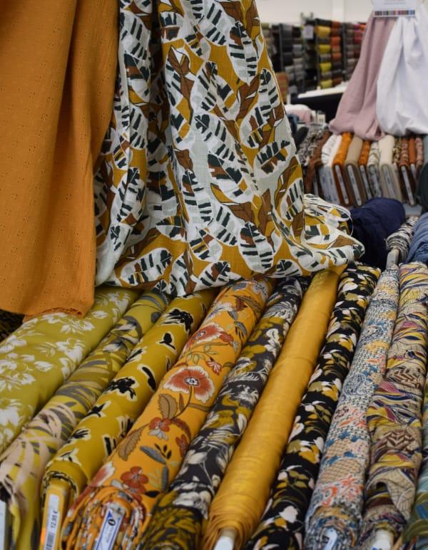 Des tissus pour créer des robes et des tuniques...